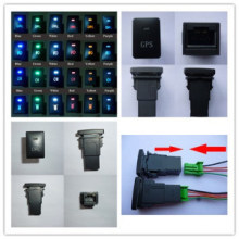 Dual LED Lights Push Switch Toyota Car Push Switch Fog Lights Push Switch