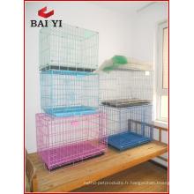 Plaque ABS confortable à l'extérieur chien pliant porte cage
