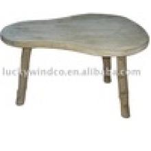 País hecho a mano 3 piernas en forma de pera mesa de madera de acento