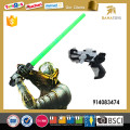 Plastic space led sword with gun
