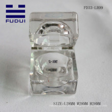 2015 moda nova transparente único quadrado vazio bálsamo labial tubo fazer você próprio tubo