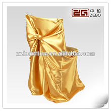 100% Polyester Hot Selling Shiny Colorful Cheap Satin Chair Covers for Wedding
