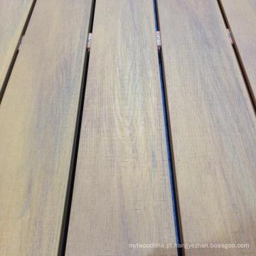 Decking plástico de madeira do composto WPC da co-extrusão impermeável