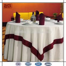 Tissu de table Jacquard sur mesure Serviette de table élégante à usage professionnel avec superposition