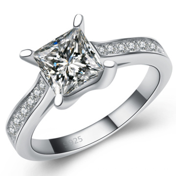 High Quality 925 Silver Ring Micro Set CZ Jewellery