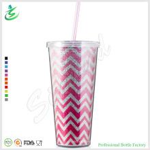 24oz Premium Glänzende Plastik Trommel mit Glitzer (TB-A1-5)