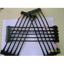 Geogrelha Uniaxial de HDPE para Reforço de Paredes de Contenção