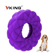 Anillo de limpieza de dientes de caucho natural Masticar juguetes para perros