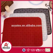 Fábrica fornecedor microfibra impressão água absorvente cozinha prato secagem mat