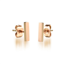 2018 Designs saoudiens simples or bijoux Bar Stud boucles d'oreilles pour les femmes