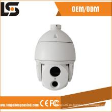 Carcasa de cámara domo CCTV de fundición a presión de aluminio