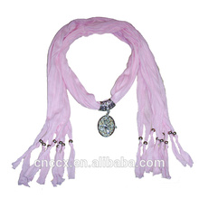 PK17ST290 Jewelry decorative knitted scarf