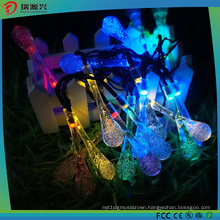 Crystal Waterdrops Solar LED String Lights