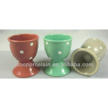 Ceramic Egg Cup/Wine Cup with Polka Dots for BS140305B