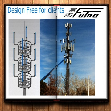 25M Galvanized Telecom Monopole Tower