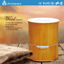 Aromaterapia Humidificador de aceite esencial de madera real con madera Nautral