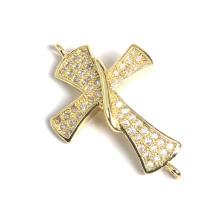 Venda Por Atacado Moda Hot Cruz CZ Micro Pave Beads Acessórios Acessorios Jóias