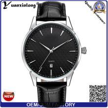 Yxl-448 Automatikuhr Armbanduhr Datum Kalender hochwertige wasserdichte rostfreies Stahl Case Leder Luxus-Uhren Großhandel