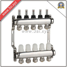 5 Ways Catchment Floor Heating Water Separator with Gauge (YZF-L077)