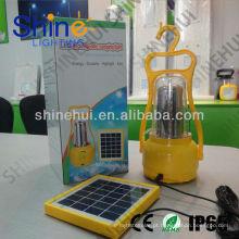 Fonte verde ultra brilhante led lanterna acampamento recarregamento solar levou lanterna de acampamento
