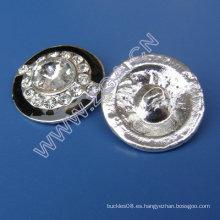 Botón de prendas de vestir de diamantes de imitación, botón de costura, botón de decoración
