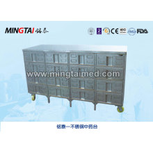 Plataforma de medicina china de acero inoxidable