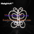 4in Beauty Butterfly Pageant Crowns And Tiaras