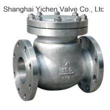 Válvula de retención China de la brida del acero inoxidable del oscilación (H44W)