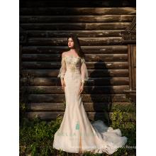 Bordado bordado bordado bordado vestido de sereia fora do ombro vestido formal