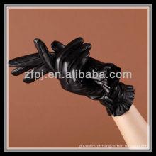 2012 luvas de couro projetadas novo do comprimento do pulso