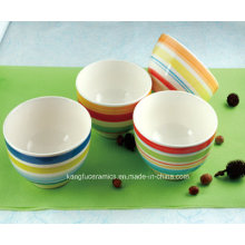 5.5 '' alrededor de la cena de cerámica