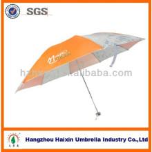 Paraguas del doblez de sombrilla al aire libre con toldo Manual de Logo impreso