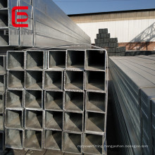 Carbon square steel tube hot dip galvanized square steel SHS for steel post
