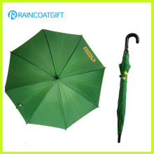 48.5cm*8k Promotion Advertising Green Straight Rain Umbrella