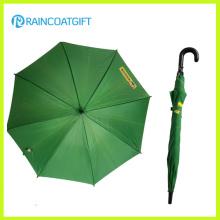 48.5 см*8k для Промотирования рекламировать зеленый прямой зонтик дождя
