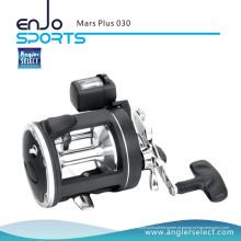 Angler Select Marte Plus Handle Plastic Body 2 + 1 Bearing Pesca Marinha Trolling Reel Fishing Tackle (Mars Plus 045)