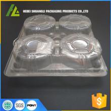 contenedores plásticos de la magdalena de la cubierta
