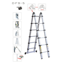 Portable Aluminium Telescopic Retract Folding Double Side Ladder Stairs