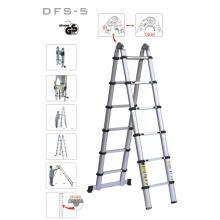 Переносная алюминиевая телескопическая складная лестница с двойной боковой лестницей