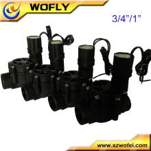 Válvula solenóide de plástico anti-corrosão