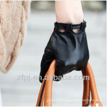 lady genuine short leather glove for car driving