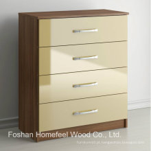 Mobiliário de quarto de alto brilho ultra-alto 4 cômoda de caixa de gaveta (HC21)