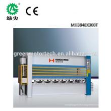 Placage de placage de placage de placage à chaud / presse chaude chaude de vente de placage et machine chaude de presse avec la bonne qualité
