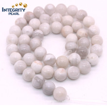 Natural Gemsotne Crazy Agate Loose Strand 6 8 10 12mm Crazy Natural White Agate