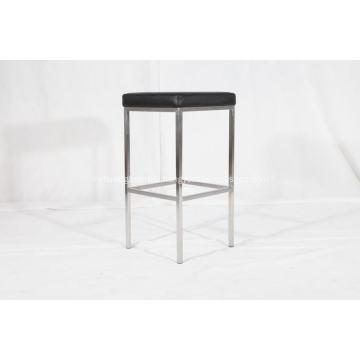 Knoll style leather bar chair