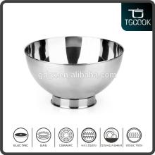 Tableware stainless steel salad bowl, ice cream bowl, dessert serving bowl