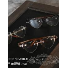 BJD Gold/Silver/Chocolate Heart Glasses for SD Jointed Doll