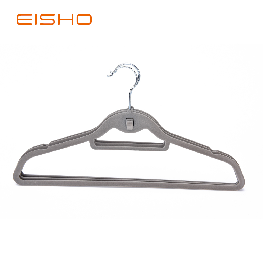 10 1 Grey Velvet Coat Hanger