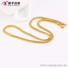 Moda feminina de luxo banhado a ouro colar de imitação de jóias ou cadeia - 42791