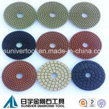 Colores serie estándar diamante mojado uso tampones para pulir